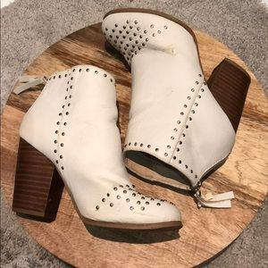 Urban Outfitters White studded booties